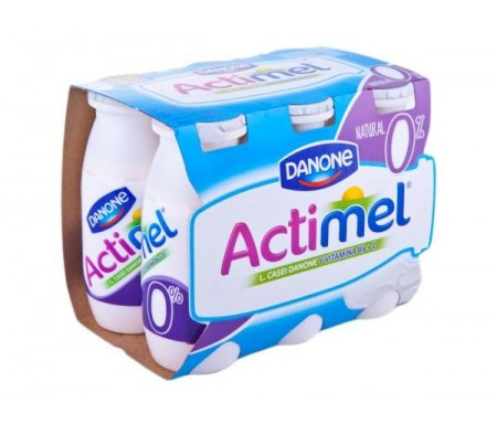 DANONE ACTIMEL DESNATADO NATURAL  100ml. Pack 6