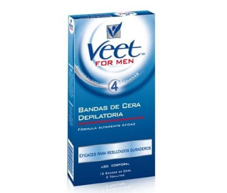 VEET FOR MEN BANDAS CERA DEPILATORIA 12 UNI.