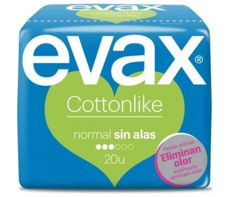 EVAX COMPRESA COTTONLIKE  NORMAL 20 UNDS