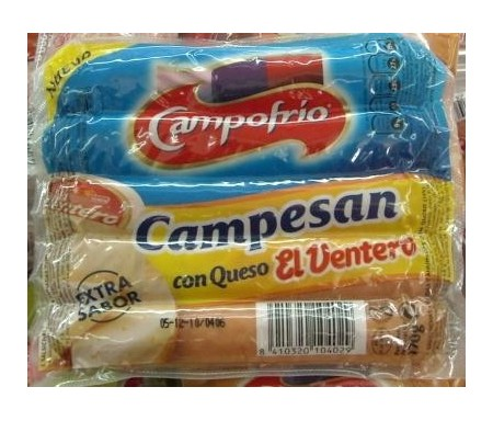 CAMPOFRIO SALCHICHAS CAMPENSAN C/QUESO PACK-2