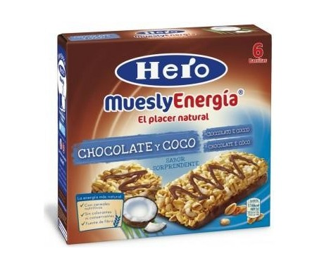 HERO MUESLY CHOCOLATE Y COCO 6X25gr