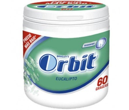 CHICLES ORBIT EUCALIPTO BOX 60 GRAGEAS