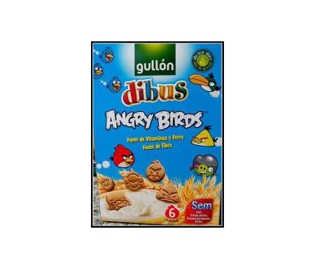 GALL.GULLON MINI DIBUS ANGRY BIRDS SIN LACTOSA 250GR
