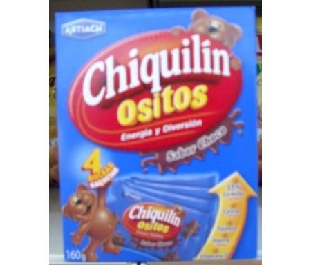 CHIQUILIN OSITOS CHOCOLATE ESTUCHE 4 X 40gr