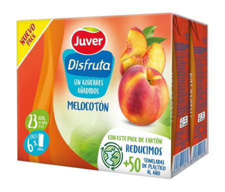 JUVER DISFRUTA NECTAR MELOCOTÓN PACK-6 200ml