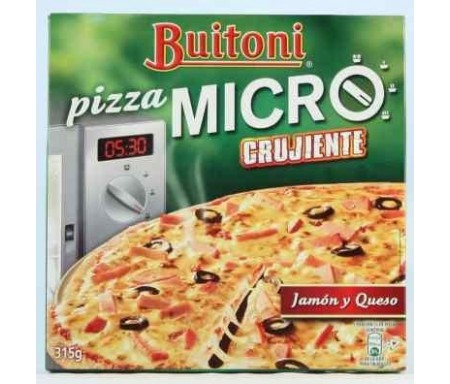 BUITONI PIZZA MICRO JAMON Y QUESO 315gr