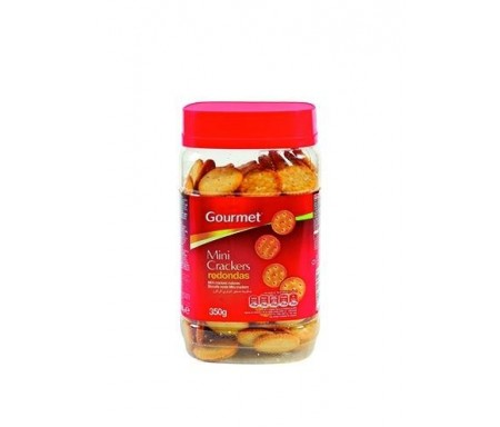 GOURMET GALL. MINI CRACKERS REDONDA 350G